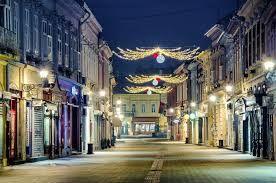 Novi Sad at night.