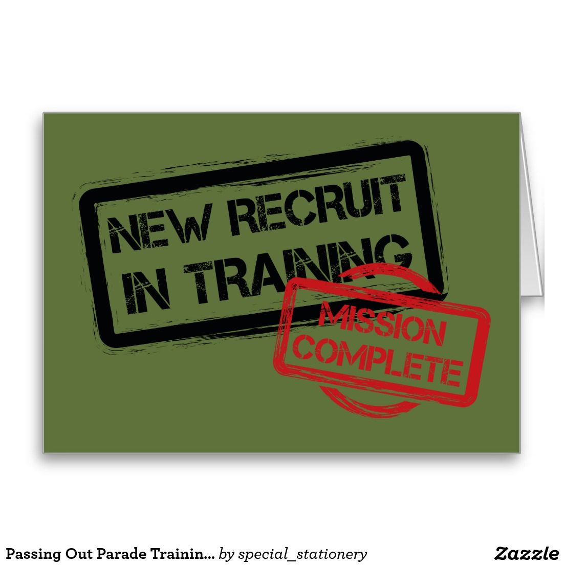 Passing Out Parade Training Complete British Army Card British