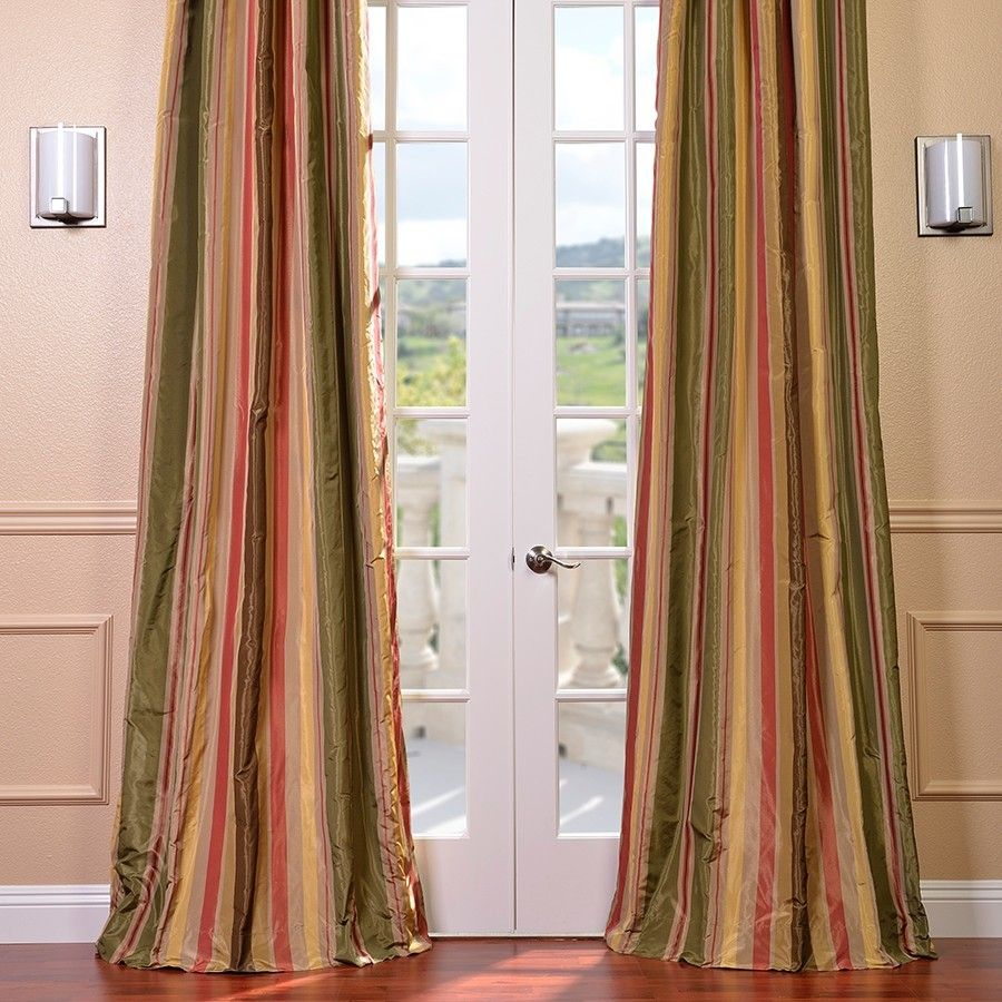 half price drapes faux silk taffeta stripe rod pocket curtain  - half price drapes faux silk taffeta stripe rod pocket curtain panel reviews  wayfair