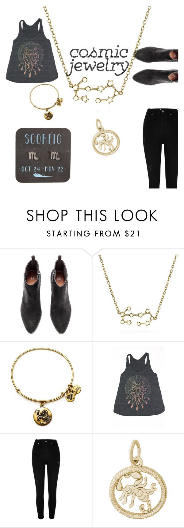 """""""Untitled #68"""" by dolrebeca ❤ liked on Polyvore featuring Bling Jewelry, Alex and Ani, River Island and Rembrandt Charms"""