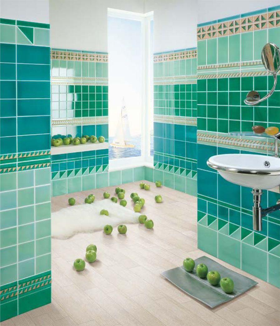 Bagno marazzi il colore verde chiaro ambientazione pitrizza cerasardapitrizza ambientazione - Piastrelle bagno verde chiaro ...