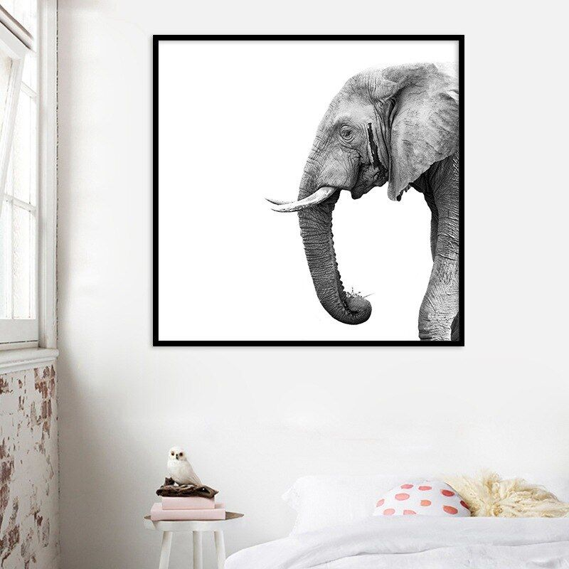 Cheap Animal Canvas Painting African Elephant Wall Art Poster Print Pictures For Living Room Bed Room Decoration Animal Canvas Paintings Elephant Wall Art Canvas Art Wall Decor