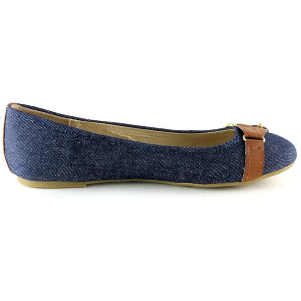 Guess Women's Isidor Flats ($84) ❤ liked on Polyvore featuring shoes, flats, denim, guess footwear, guess shoes and guess flats