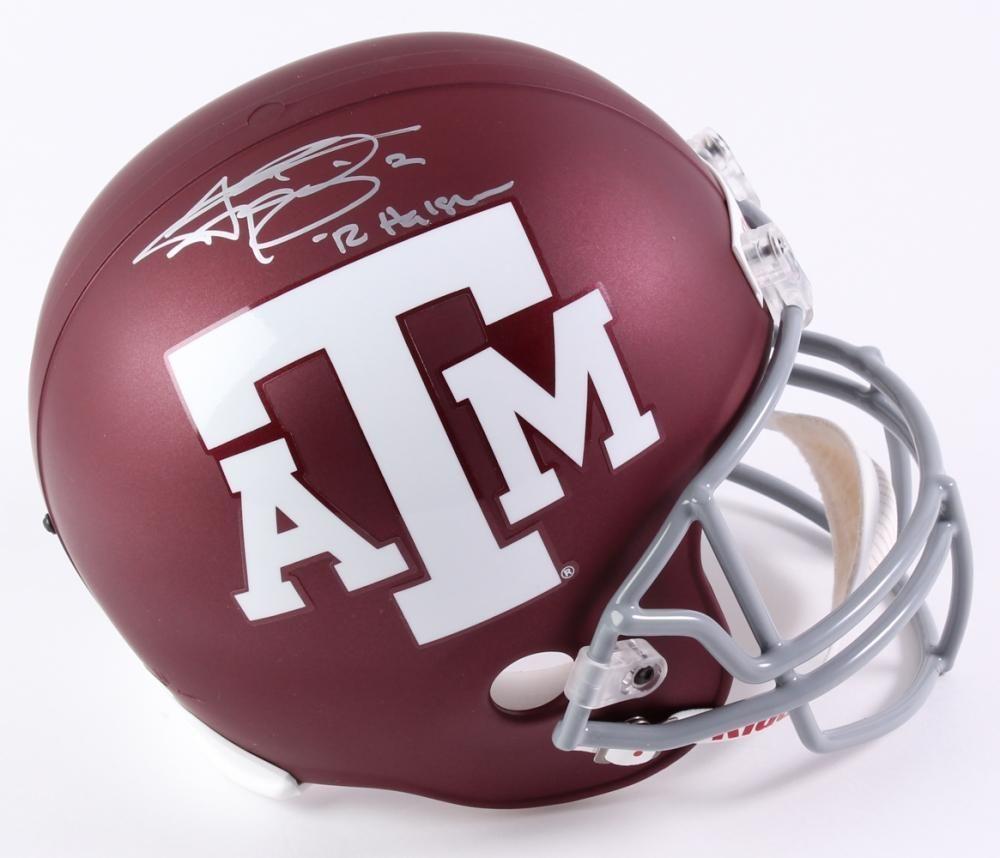 Autographed//Signed Johnny Manziel 12 Heisman Texas A/&M Maroon College Football Jersey JSA COA