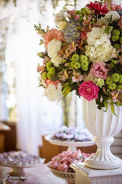 Decoracao De Casamento Arranjo De Mesa Rosa Marsala E Branco