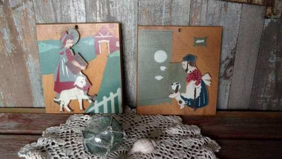 Check out this item in my Etsy shop https://www.etsy.com/listing/184188749/vintage-wooden-nursery-art-mother