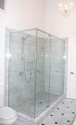 Carrara Marble Shower {perfect Shower For Two} Http://www.forsalebyowner