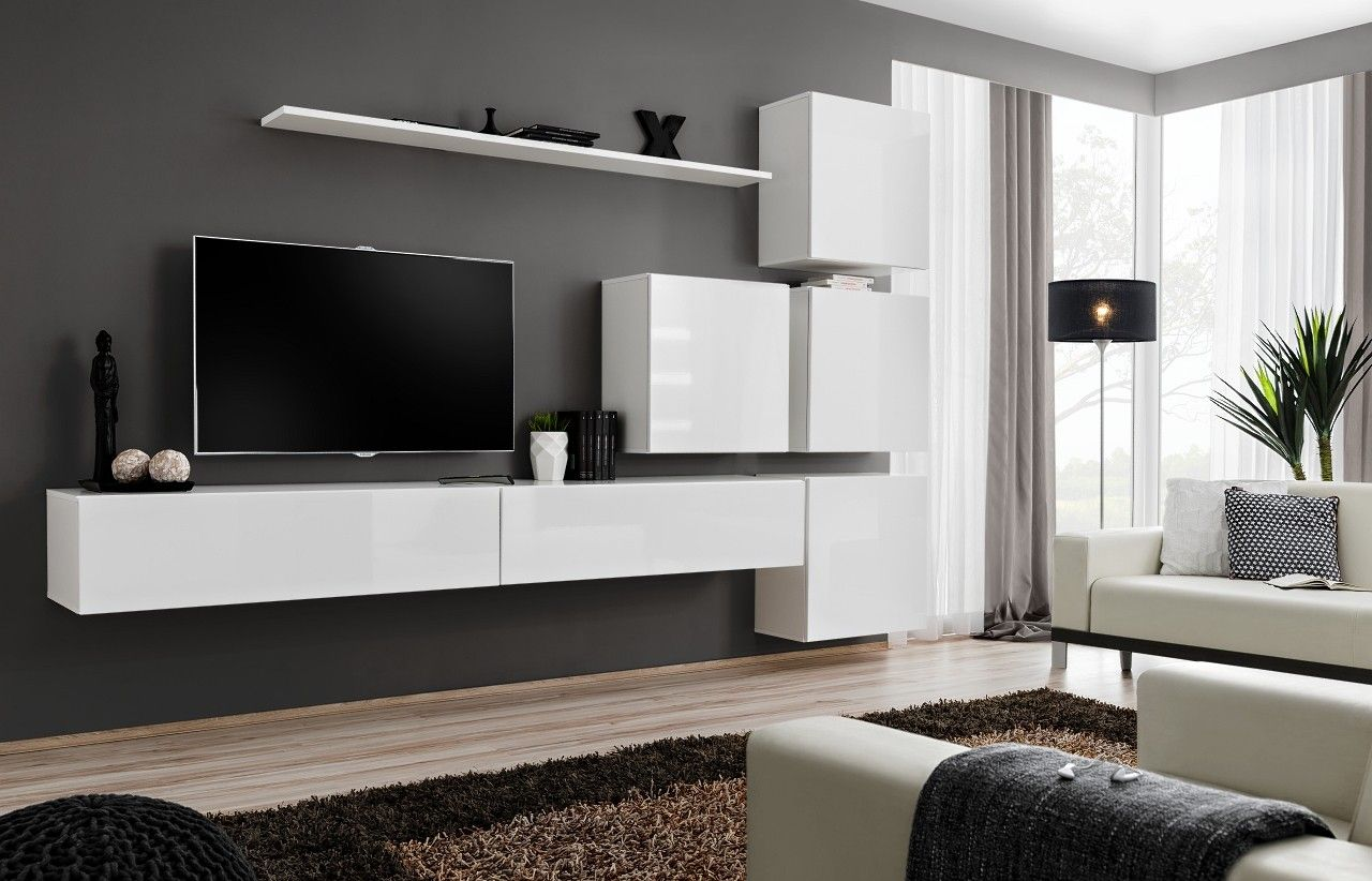 Astonishing Built in Entertainment Center Ideas with White ...