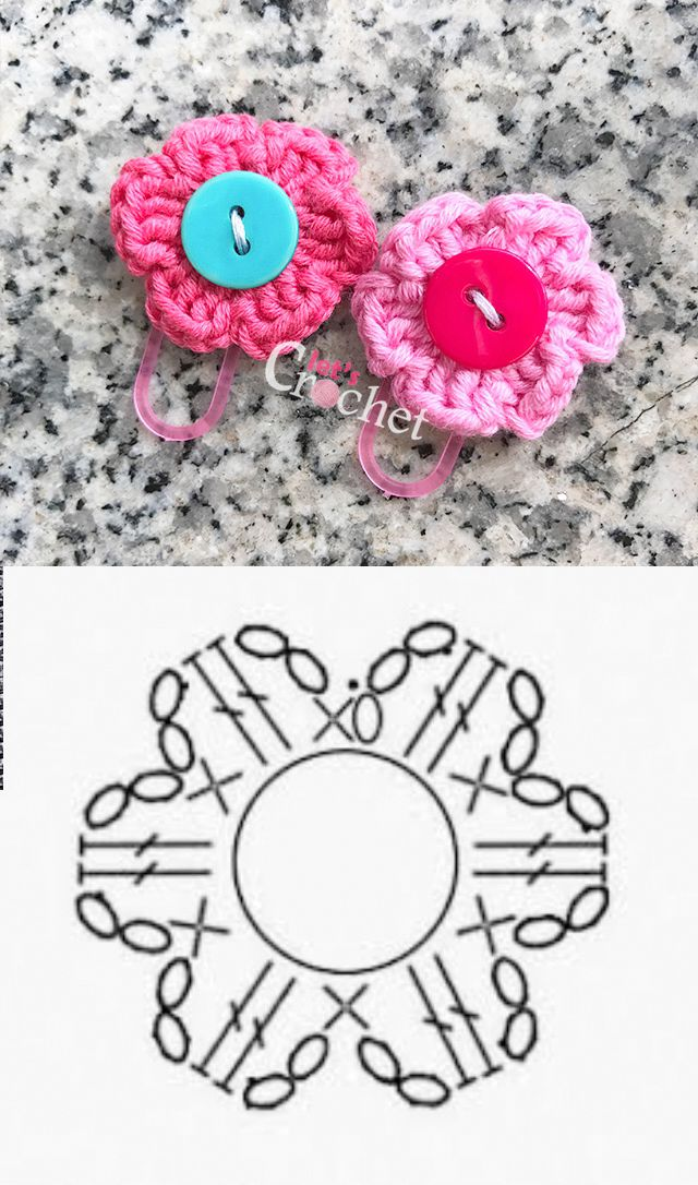 Quick and Easy 6 Petal Flower Free Crochet Pattern | Baby sandals ...