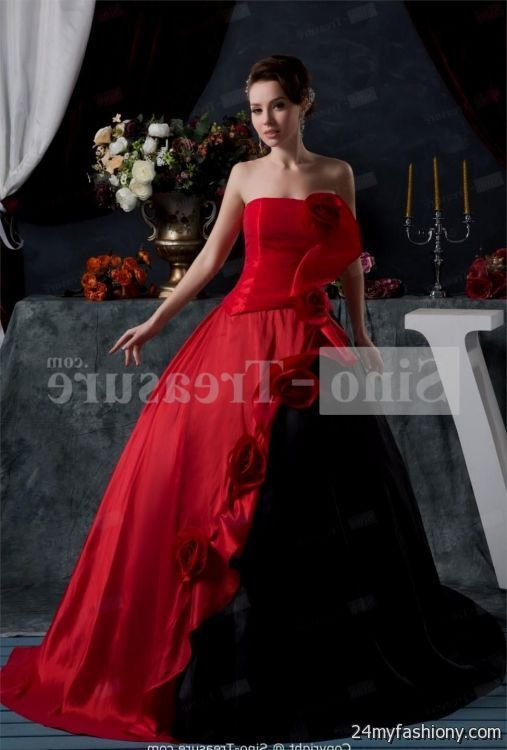 Image Result For Red And Black Wedding Dresses