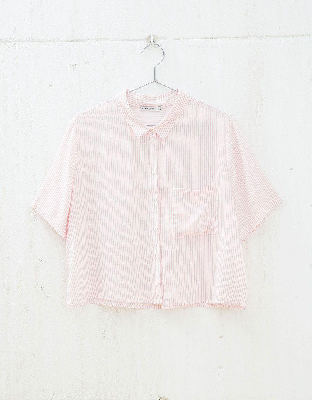 Camisa BSK estampado rayas. Descubre ésta y muchas otras prendas en Bershka con nuevos productos cada semana
