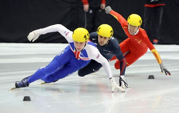 Short Track Speed Skating. Fun sport watch during the ...