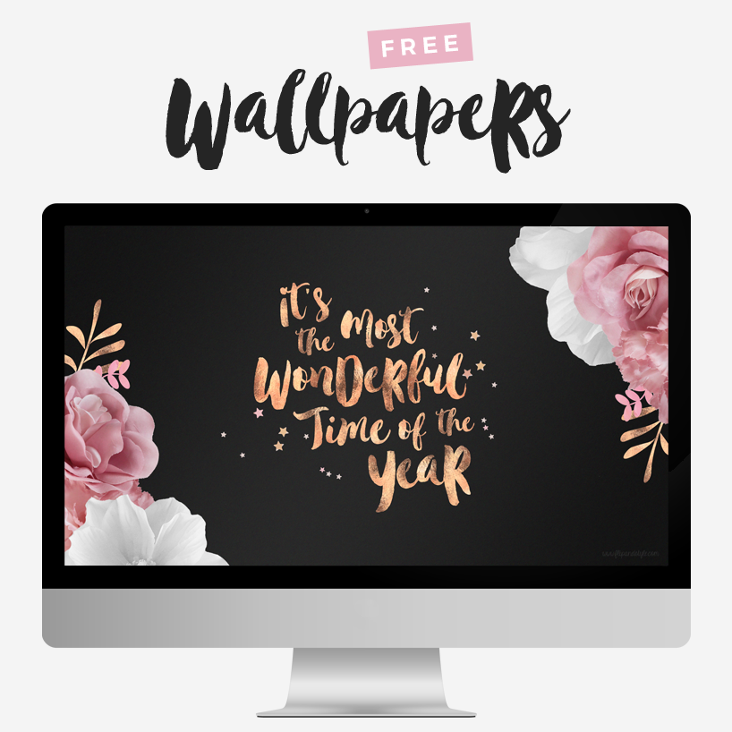 FREE Rose Gold Festive Wallpapers Rose gold wallpaper