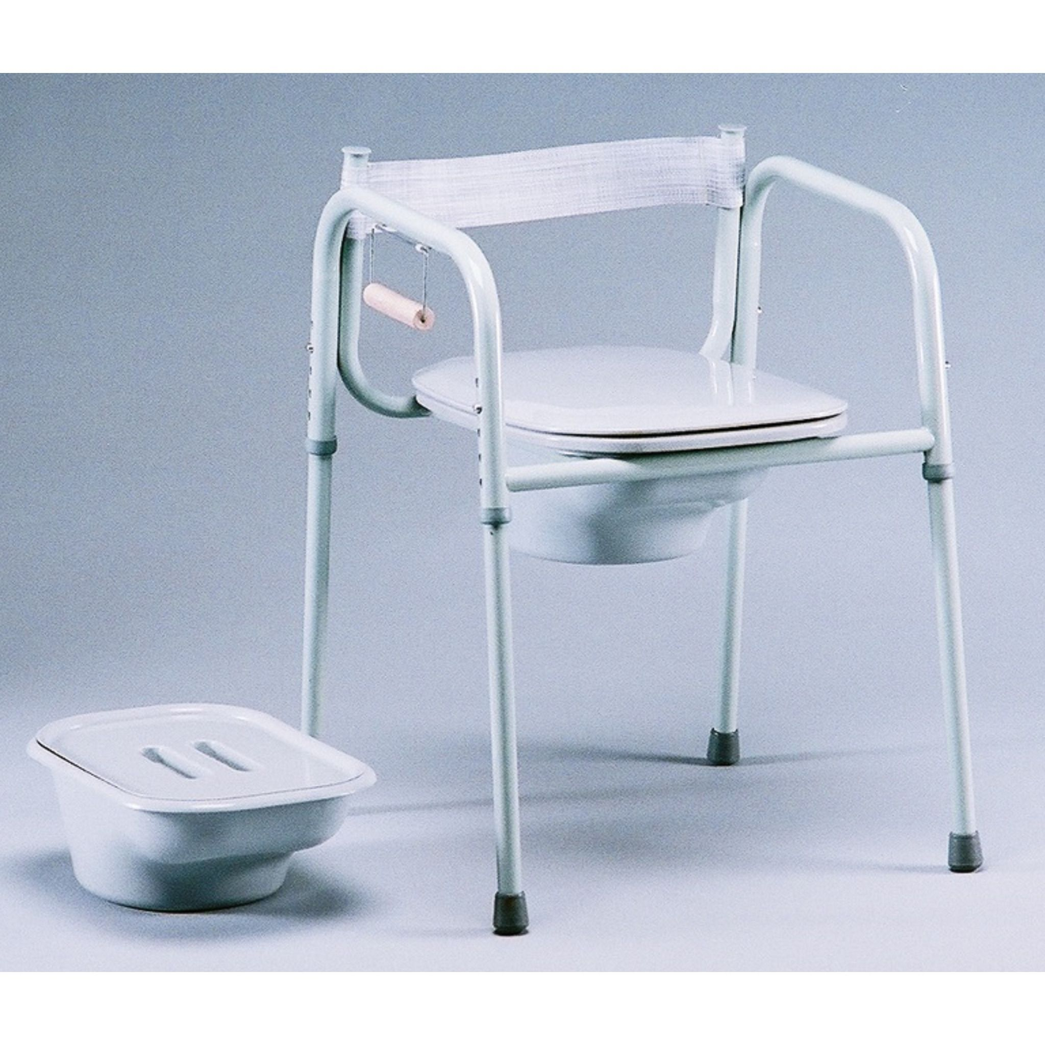 TFI Healthcare 3223G/1 3 in 1 Universal Steel Commode with Removable ...