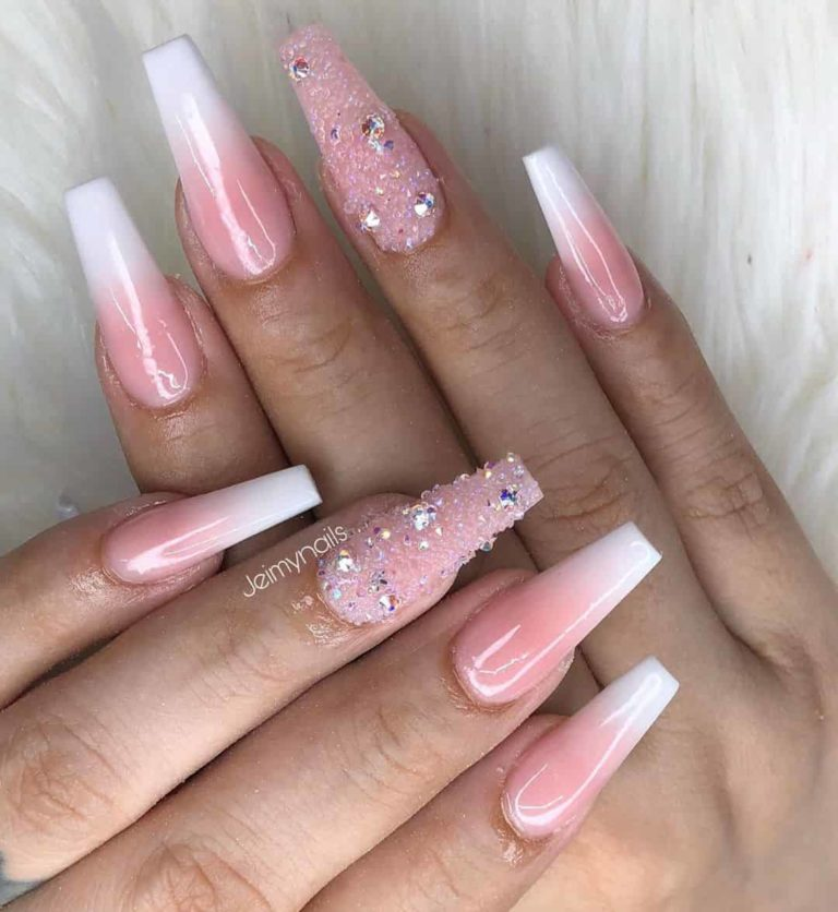 Faded Baby Pink Manicure Ballerina Nails Designs Pink Manicure Fancy Nails Designs