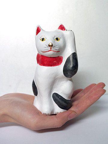 山形県米沢市の相良人形 招き猫 ジェットリンクの民芸 招き猫 猫 人形 人形