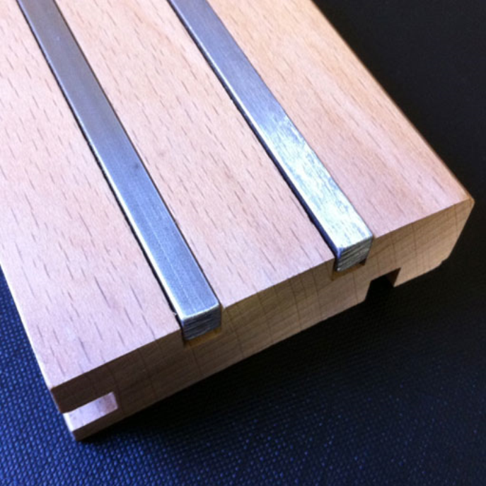 The Stylish Solid Oak Skirting With Inlay Allows You To Seal The Gap