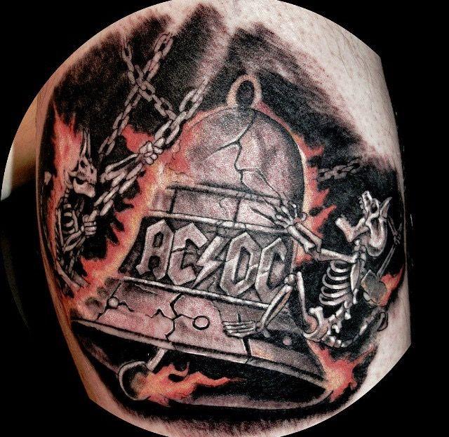 Jeff Ward Ac Dc Tattoo Dc Tattoo Acdc Tattoo Music Tattoos