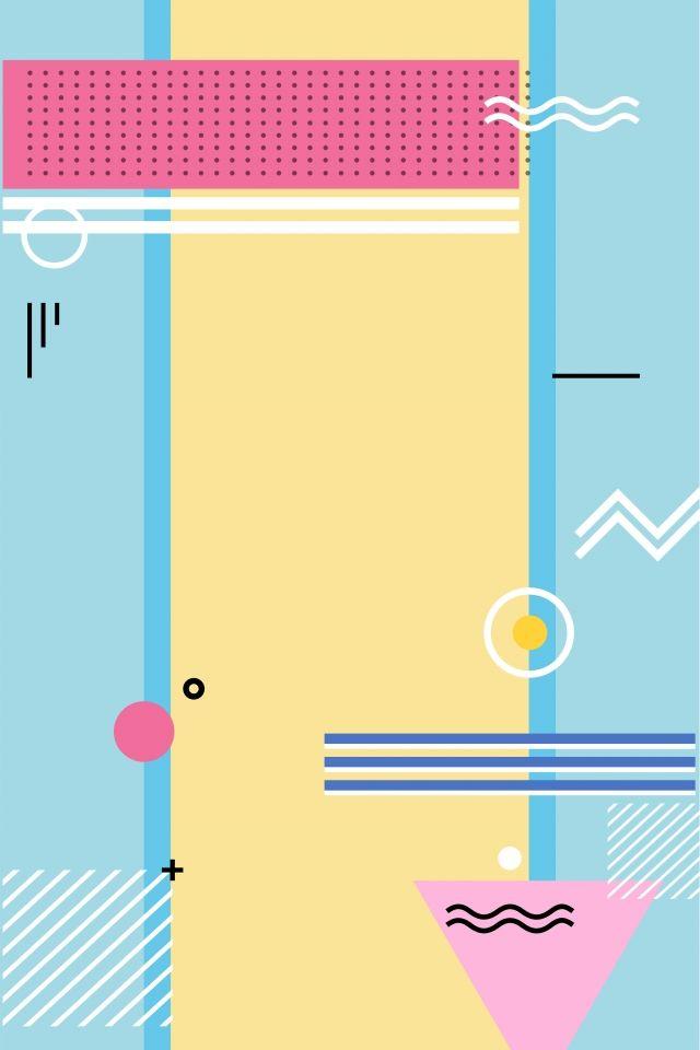 Memphis Design Fashion Material Geometric Poster Geometric Background