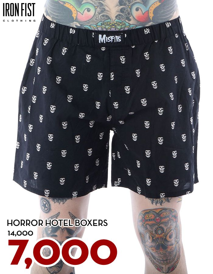 아이언피스트 HORROR HOTEL BOXERS / 14,000원 → 7,000원 http://www.ironfist.co.kr/shop/goods/goods_view_men.php?goodsno=423  #ironfist #아이언피스트 #남자캐주얼 #반바지 #쇼츠
