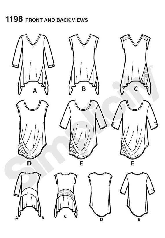 Simplicity Pattern 1198 Misses\' Knit Tops in Two by CCsDodads ...