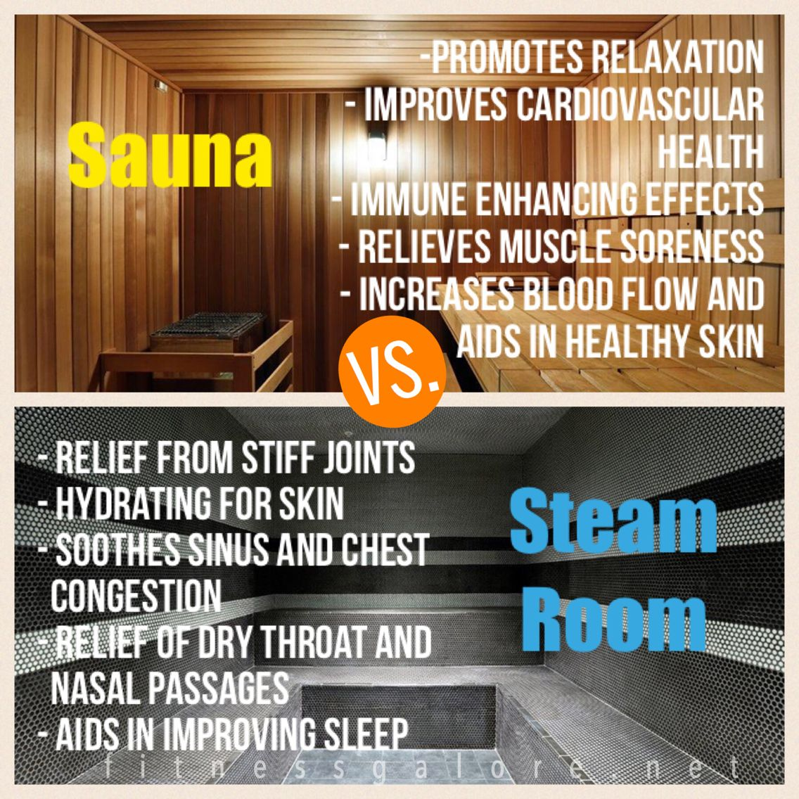 Sauna vs steam room find out the wonderful ways they both