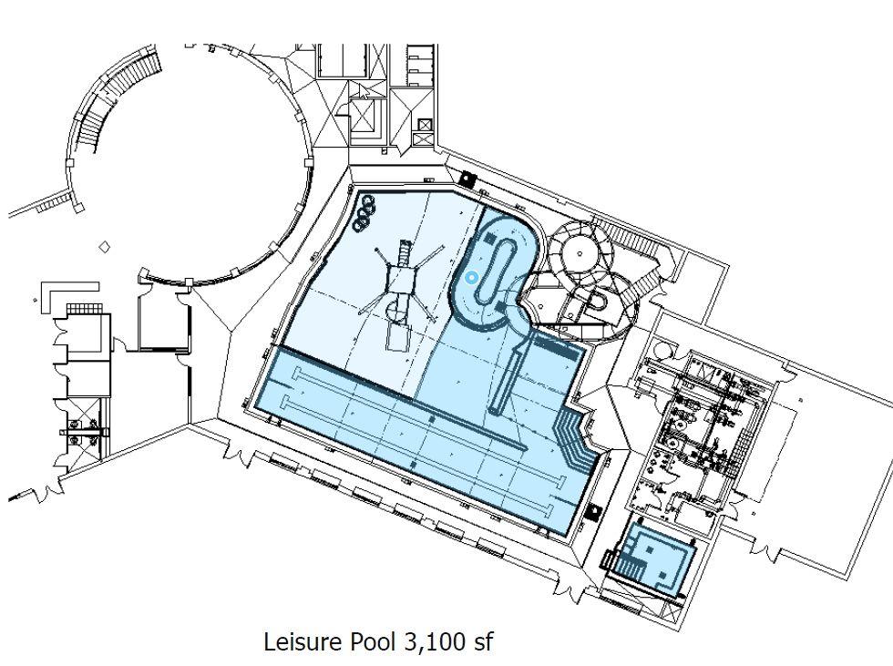 3100 sf aquatic center rec pool design designs and for Pool design layout