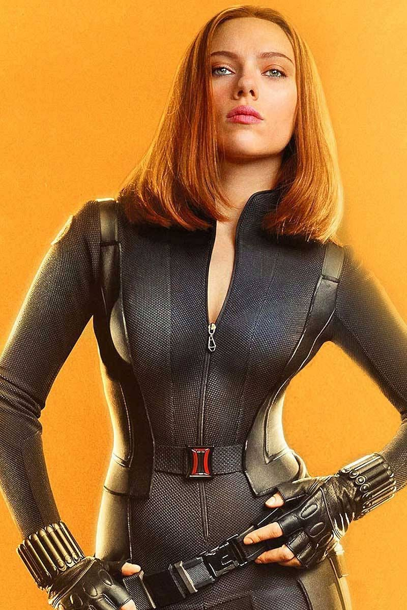 Scarlett Johansson black suit glamour looks 2018 mobile