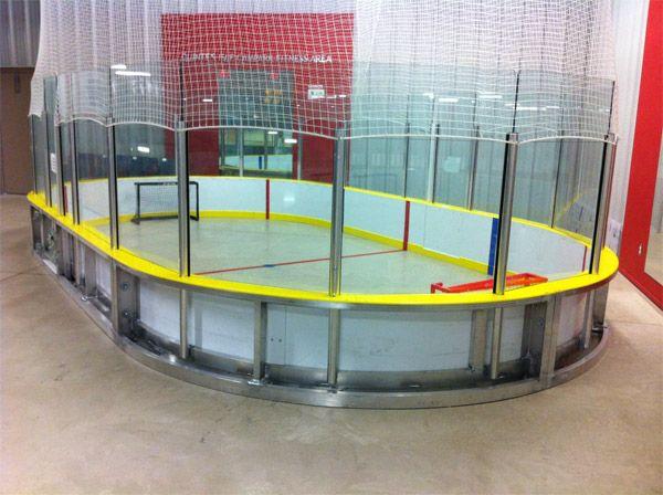 how to build a mini hockey rink
