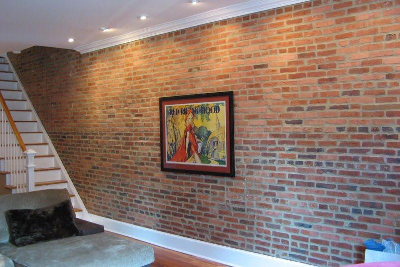 Accent Lighting For An Interior Brick Wall Adjustable Recessed Lights In The Ceiling Exposed Brick Loo Brick Wall Paneling Faux Brick Panels Faux Brick Walls