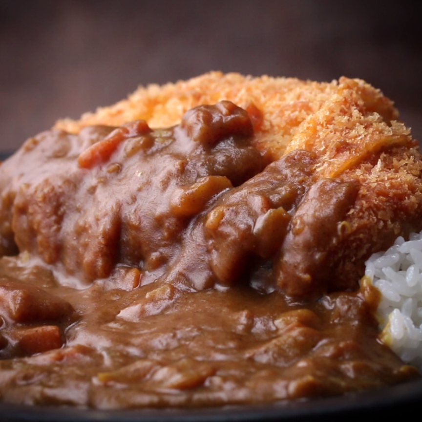 Japanese Pork Cutlet Tonkatsu With Curry Recipe By Tasty Video Recipe Video Pork Cutlets Yummy Food Recipes