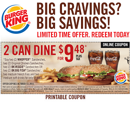 Burger King Coupons Canada 2015 Free Whopper Coupon Burger King Canada Printable Coupons Meal Deal