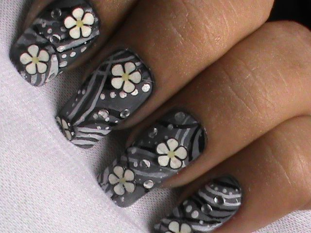 Easy nail designs with FIMO flower nail art- Fimo Canes nail art ...