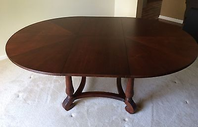 Ethan Allen British Classics 56 Round Dining Table W 20 Leaf