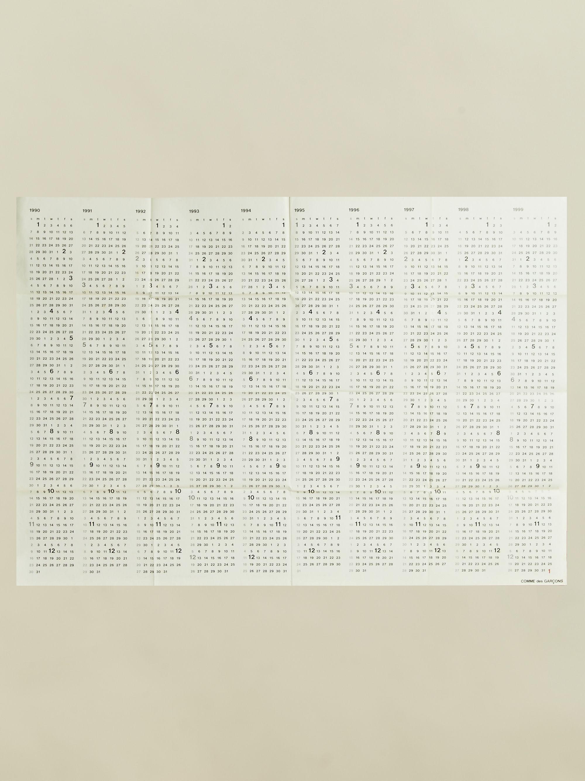 1990 1999 Calendar