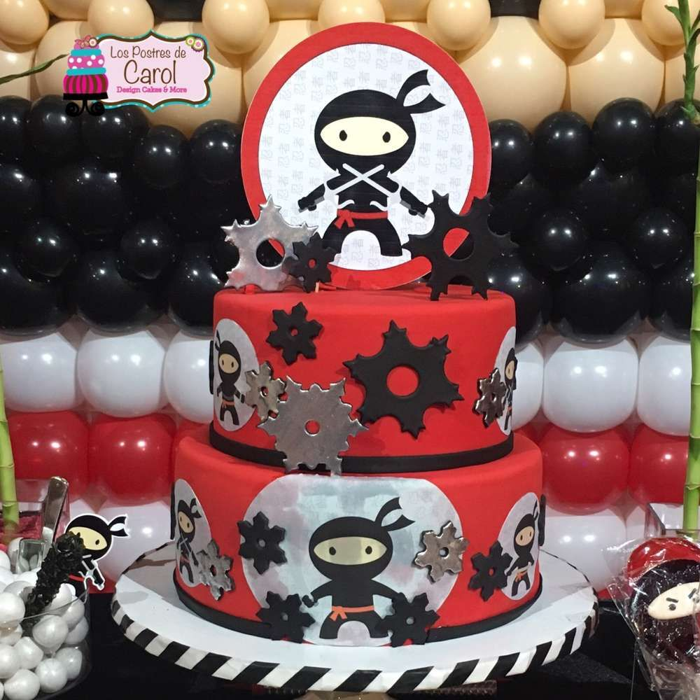 What An Awesome Cake At A Ninja Birthday Party See More