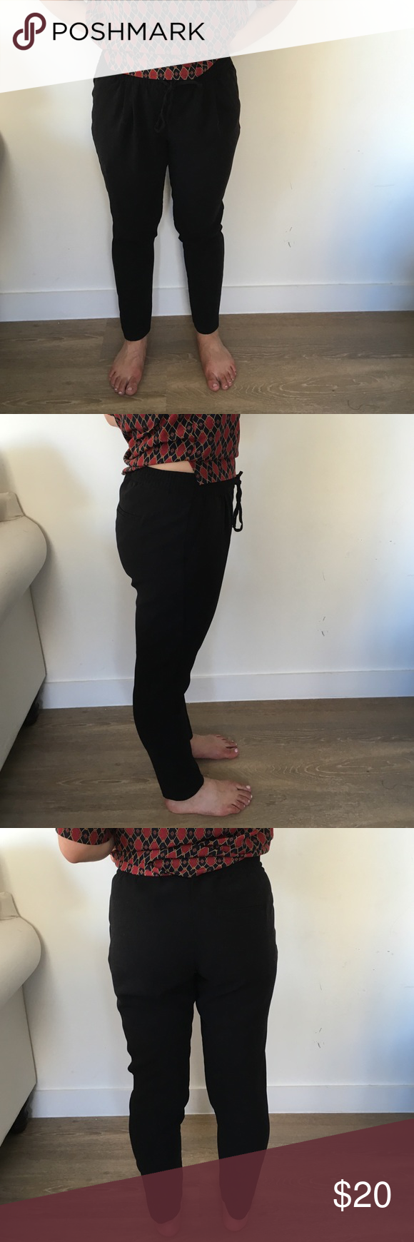 H & m black trousers Slouchy H&M Pants Trousers