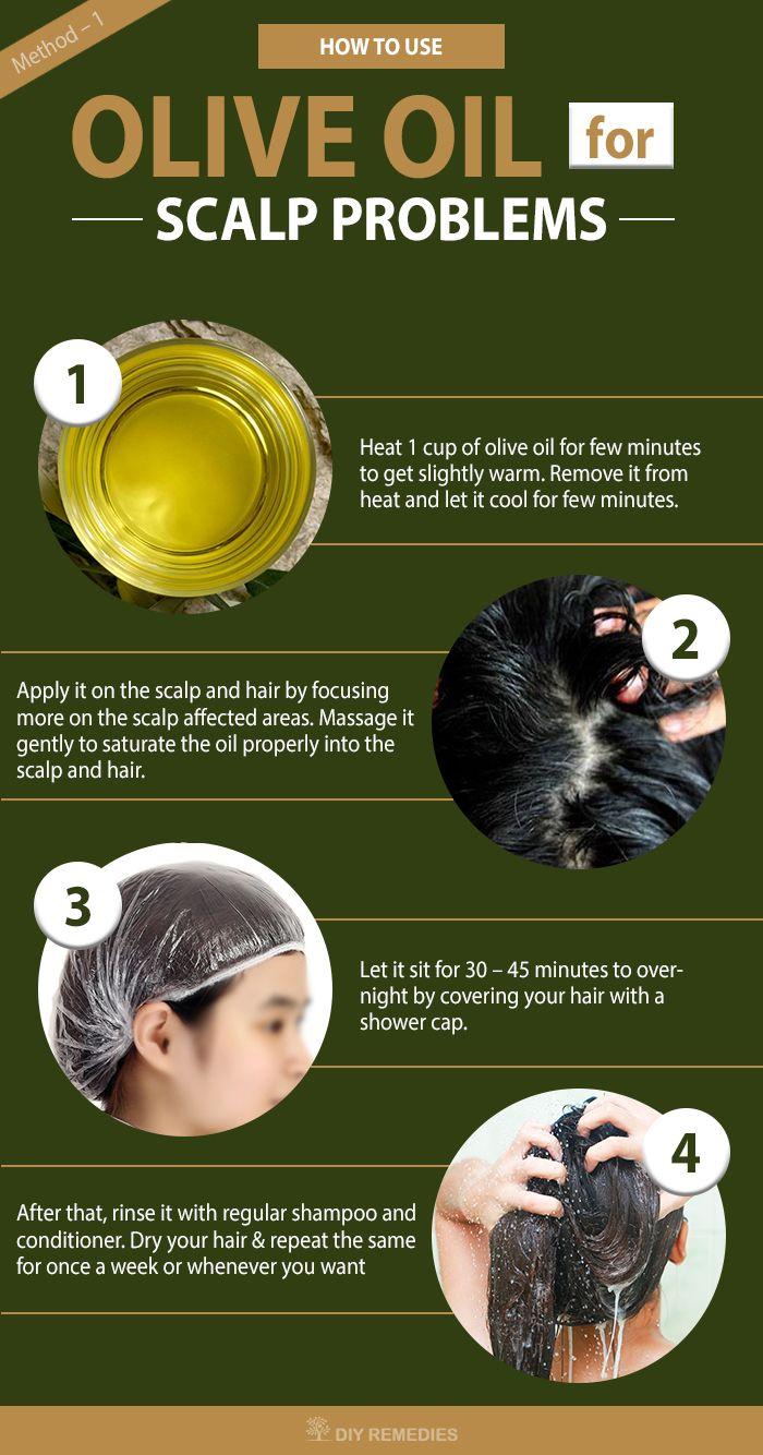 Olive oil for scalp prpblems Hair mask for dandruff