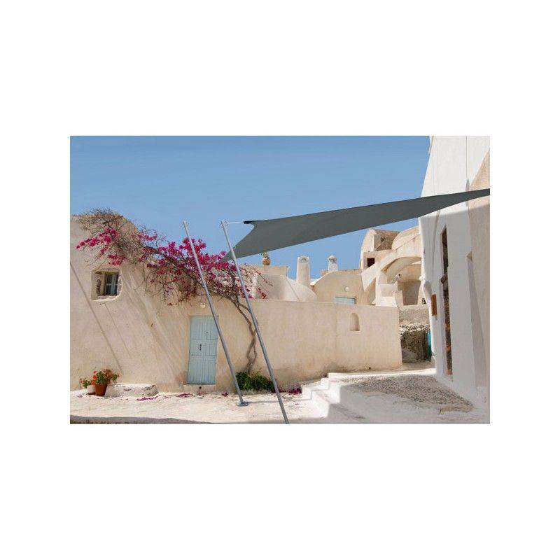 Pack voile d'ombrage gris 2,9x4m + mat sur www.mon-abri-de-jardin.com