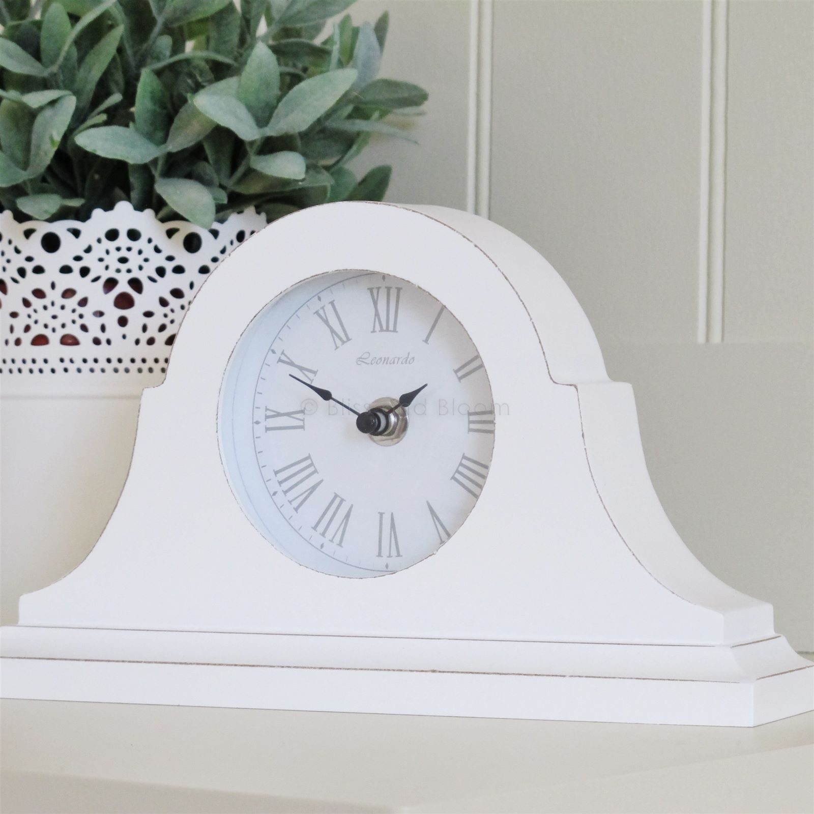 White Mantel Clock From Blissandbloom Co Uk White Mantel Clocks Mantel Clock Mantel Clocks