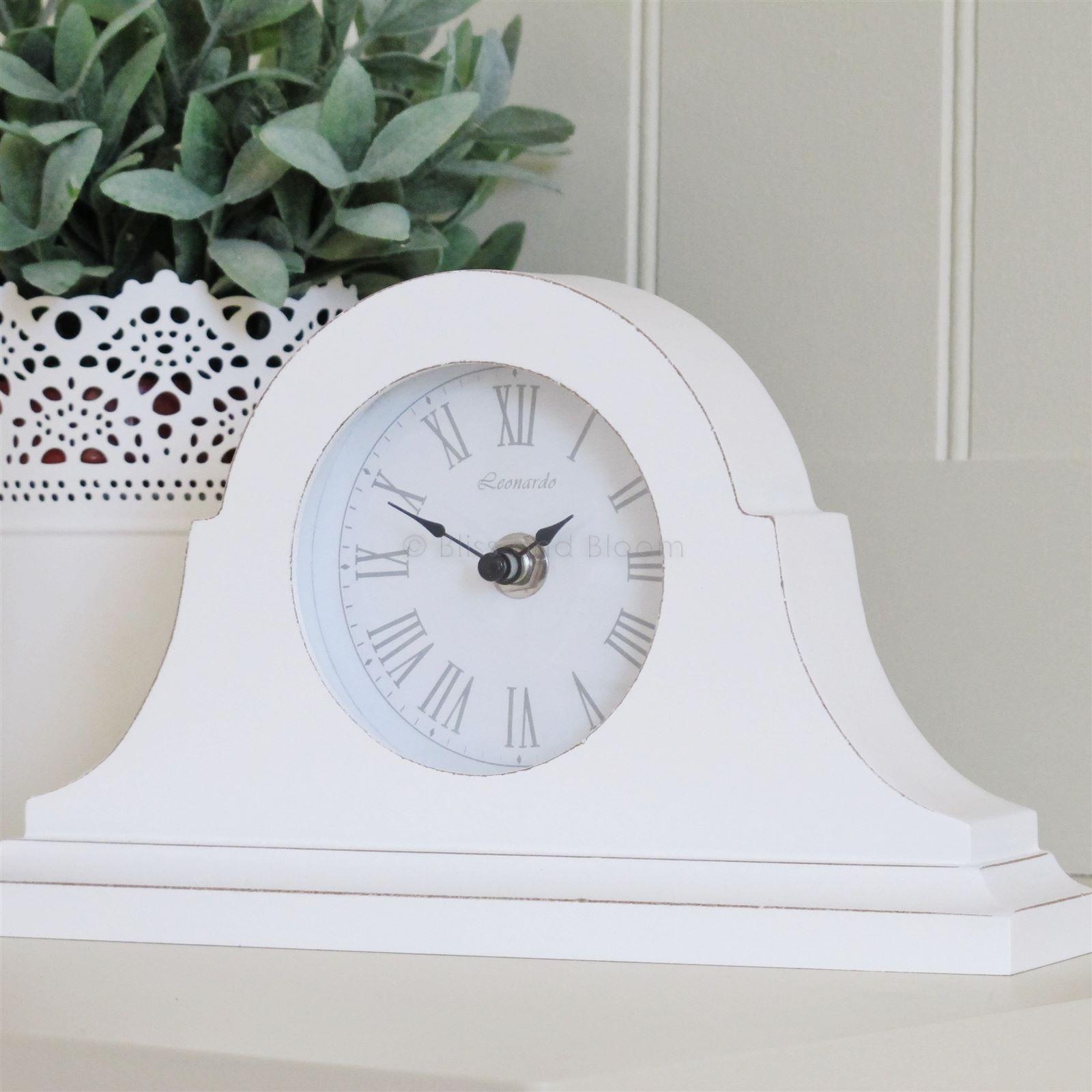 White Mantel Clock From Blissandbloom.co.uk
