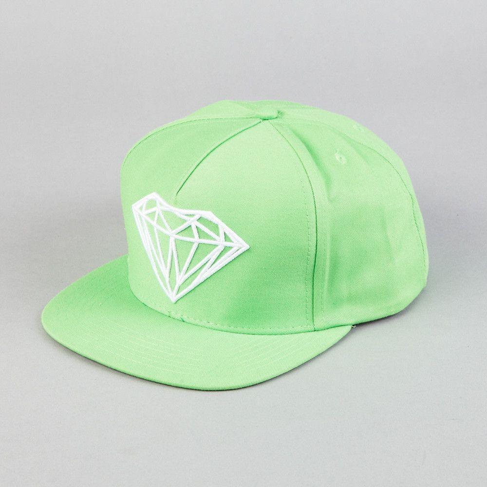 93fd37b721c Diamond Brilliant Snapback Kelly   Green   White Kelly Green