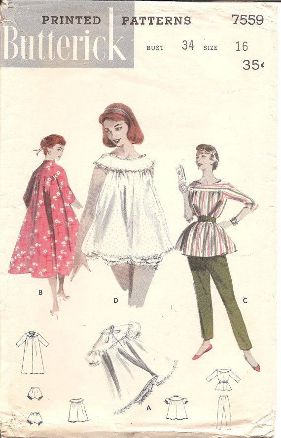 RESERVED for Sarah: 1950s Womens Lounge Clothes Pajamas Robe ...