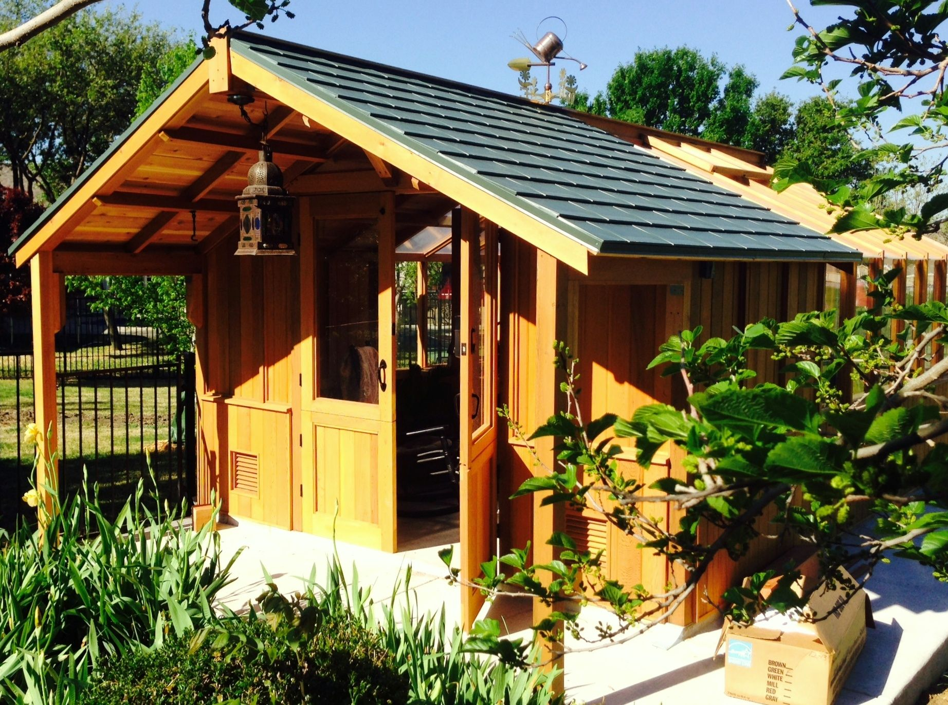 stylish garden shed greenhouse impressive garden shed greenhouse cedar kits - Garden Sheds With Greenhouse