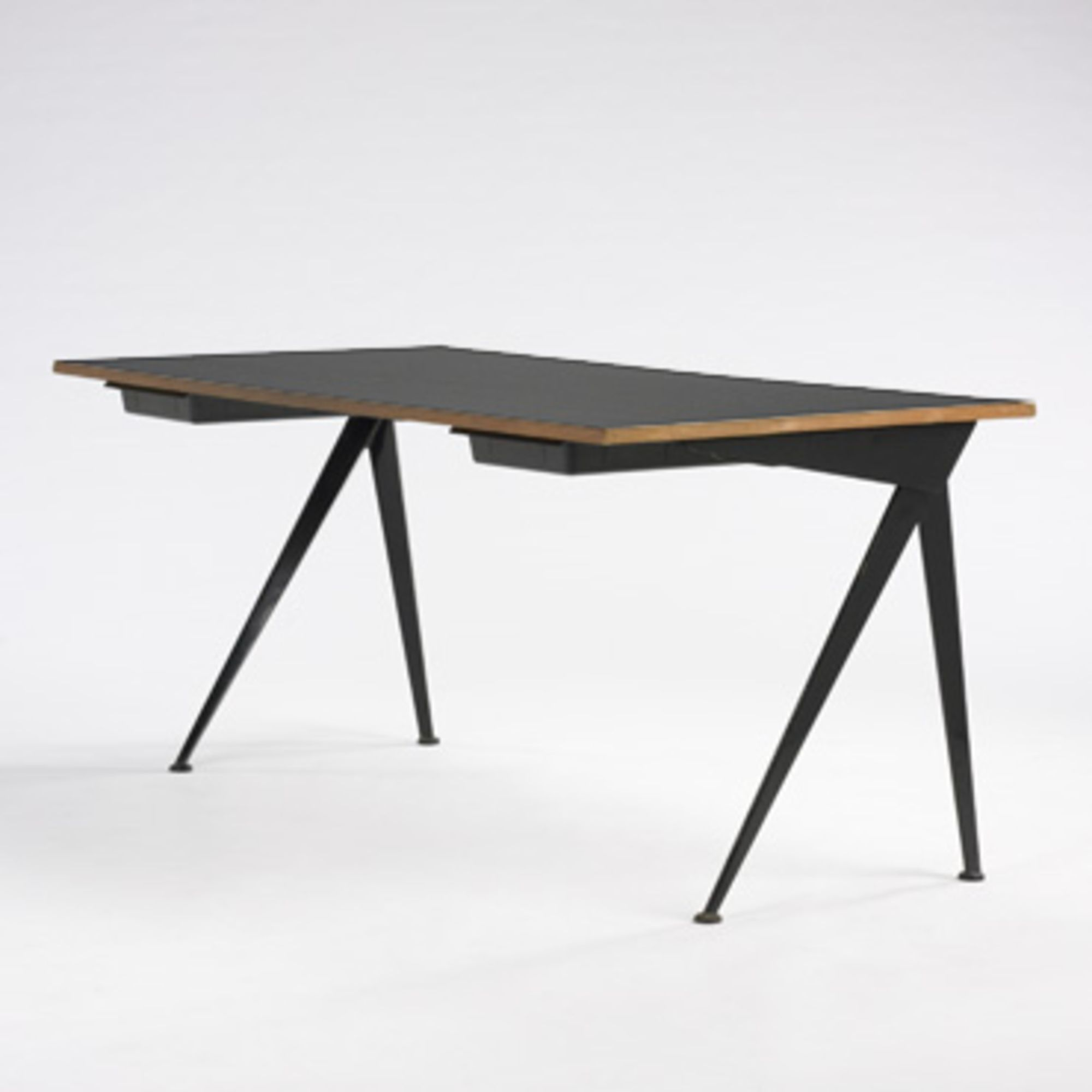 Lot 339 Jean Prouve Compass Desk C 1955 Laminated Oak
