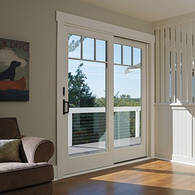 Andersen a series gliding patio door for the home for Andersen exterior french doors