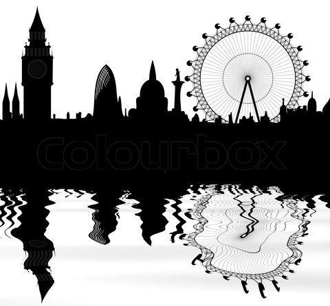 Amazing London Skyline Graphic