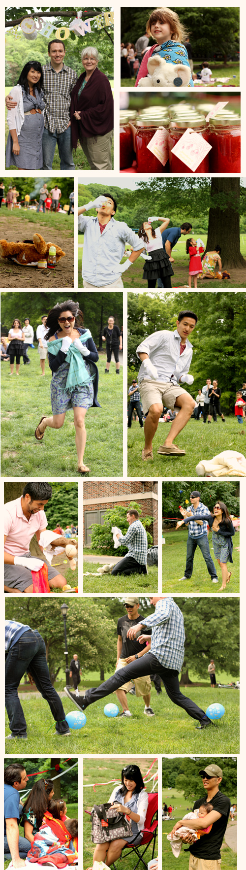 baby shower games relay race