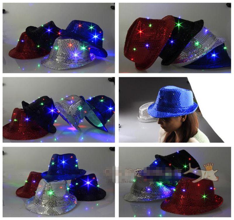 2017 new sale led wedding favors 1pcs fashion led hat party optic 2017 new sale led wedding favors 1pcs fashion led hat party optic cap flashing luminous fedora junglespirit Gallery