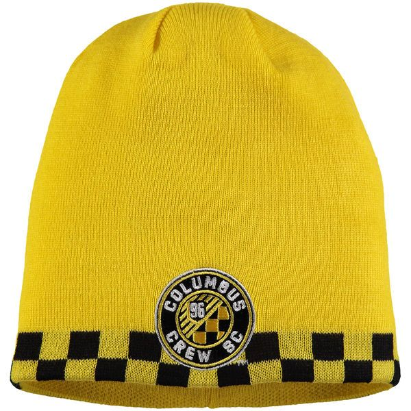 half off f2263 94bac ... where to buy columbus crew sc adidas jersey hook cuffed knit hat yellow  21.99 a2e38 fee1d